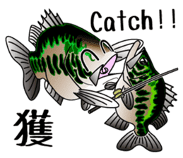 Black bass lure fishing sticker #2188995