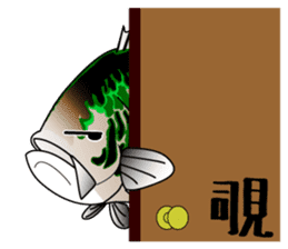 Black bass lure fishing sticker #2188997