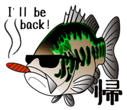Black bass lure fishing sticker #2188998