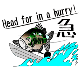 Black bass lure fishing sticker #2189017