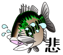 Black bass lure fishing sticker #2189018