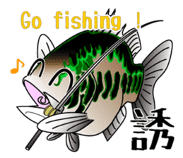 Black bass lure fishing sticker #2189022