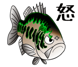 Black bass lure fishing sticker #2189023