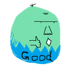 Insects and boiled egg man sticker #2189914