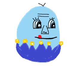 Insects and boiled egg man sticker #2189920
