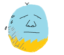 Insects and boiled egg man sticker #2189926