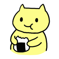 "The sticker of ""a chubby nyanko"""