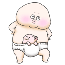 Plump plump ! Moonchi-Kun 2 sticker #2195151
