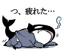 A Workaholic Orca. sticker #2195394