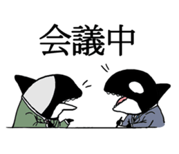 A Workaholic Orca. sticker #2195397