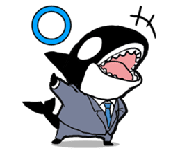 A Workaholic Orca. sticker #2195404
