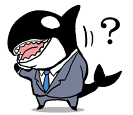 A Workaholic Orca. sticker #2195412