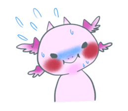 salamander cat sticker #2196066