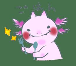 salamander cat sticker #2196069