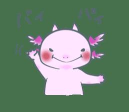 salamander cat sticker #2196076