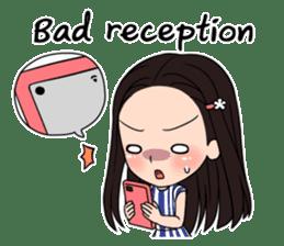 "StampGirl ""Smartphone Life"" English sticker #2197950"