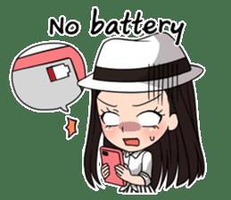 "StampGirl ""Smartphone Life"" English sticker #2197951"