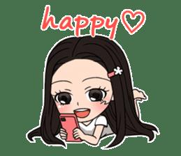 "StampGirl ""Smartphone Life"" English sticker #2197956"