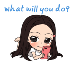 "StampGirl ""Smartphone Life"" English sticker #2197972"