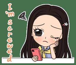 "StampGirl ""Smartphone Life"" English sticker #2197980"