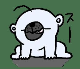 Pure white bear SOMARI sticker #2198119