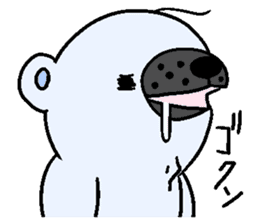 Pure white bear SOMARI sticker #2198126