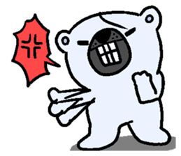 Pure white bear SOMARI sticker #2198130