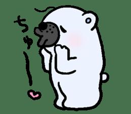 Pure white bear SOMARI sticker #2198140