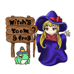 witch's room & frog English