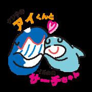 สติ๊กเกอร์ไลน์ whale sticker sp-01