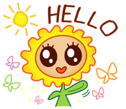 HELLO FLOWER (ENG) sticker #2202984