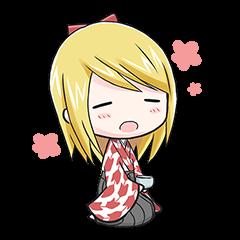 Kimono Blonde Girl