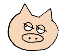 Sticker of pig sticker #2206952
