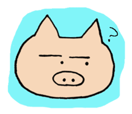 Sticker of pig sticker #2206980