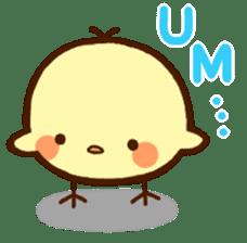 Piyoko(English) sticker #2208118