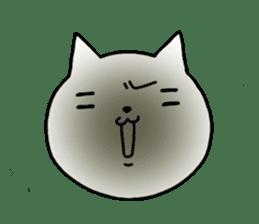 Head of white cat.PLUS sticker #2208226