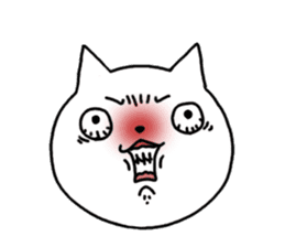 Head of white cat.PLUS sticker #2208238