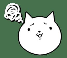 Head of white cat.PLUS sticker #2208241