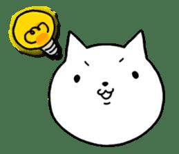 Head of white cat.PLUS sticker #2208242