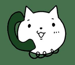 Head of white cat.PLUS sticker #2208245