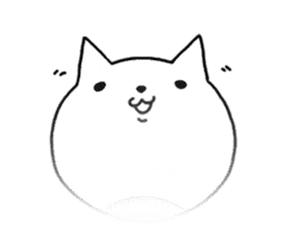 Head of white cat.PLUS sticker #2208251