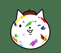 Head of white cat.PLUS sticker #2208253