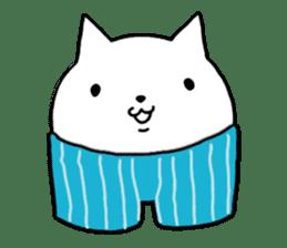 Head of white cat.PLUS sticker #2208254