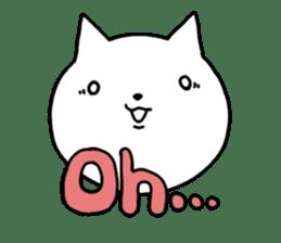 Head of white cat.PLUS sticker #2208257