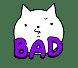 Head of white cat.PLUS sticker #2208260