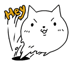 Head of white cat.PLUS sticker #2208262