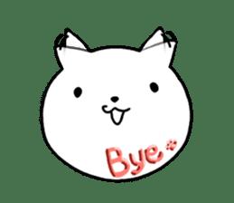 Head of white cat.PLUS sticker #2208263