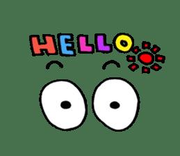 cute eyes sticker sticker #2209253