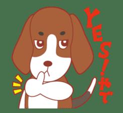 Beagle investigator Calvi & Glico sticker #2210184
