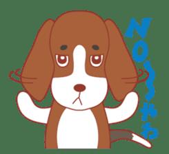 Beagle investigator Calvi & Glico sticker #2210186